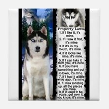 Siberian Husky Dog Laws Rules Tile Coaster