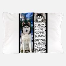 Siberian Husky Dog Laws Rules Pillow Case