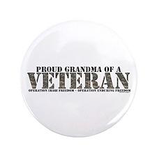 "Both Wars (Iraq & Afghanistan 3.5"" Button"