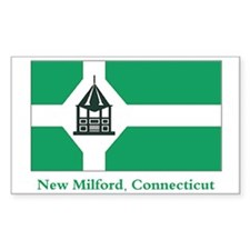 New Milford CT Flag Rectangle Decal