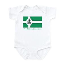 New Milford CT Flag Infant Bodysuit