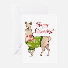 Happy Llamadays Greeting Cards
