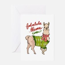 Falalala Llama Greeting Cards