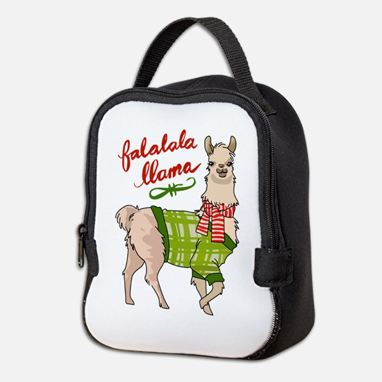 Falalala Llama Neoprene Lunch Bag