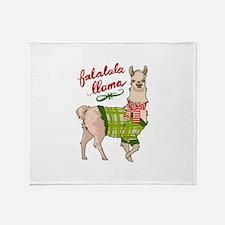 Falalala Llama Throw Blanket