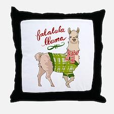 Falalala Llama Throw Pillow