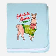 Falalala Llama baby blanket