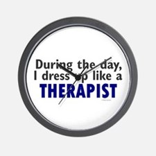 Dress Up Like A Therapist Wall Clock
