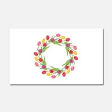 Tulips Wreath Car Magnet 20 x 12