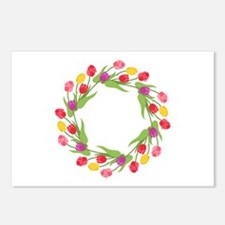 Tulips Wreath Postcards (Package of 8)