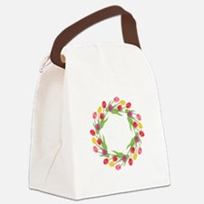 Tulips Wreath Canvas Lunch Bag
