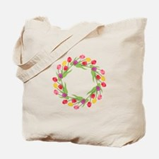 Tulips Wreath Tote Bag