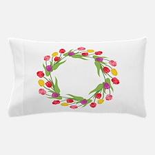 Tulips Wreath Pillow Case