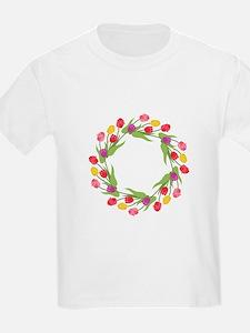 Tulips Wreath T-Shirt