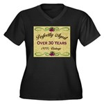 Over 30 Years Women's Plus Size V-Neck Dark T-Shir
