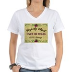Over 30 Years Women's V-Neck T-Shirt