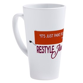 It's Just Paint, People! 17 oz Latte Mug