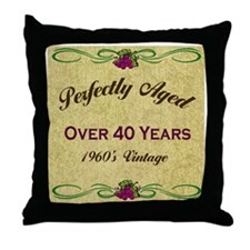Over 40 Years Throw Pillow