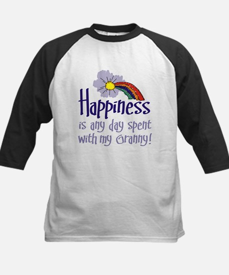 HAPPINESS IS DAY W/ GRANNY! Kids Baseball Jersey