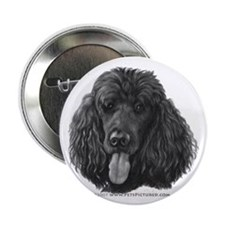 """Shadow, Standard Poodle 2.25"""" Button"""