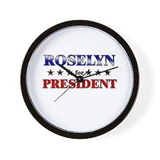 ROSELYN for president Wall Clock
