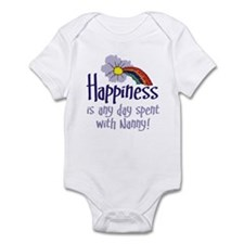 HAPPINESS IS DAY WITH NANNY! Infant Bodysuit