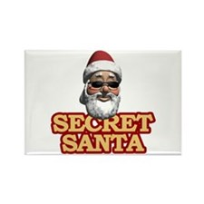 Secret Santa Rectangle Magnet
