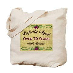 Over 70 Years Tote Bag