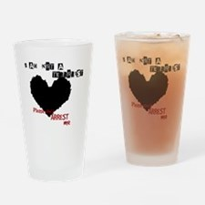 Cute I don%27t dial 911 Drinking Glass