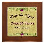 Over 80 Years Framed Tile