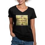 Over 80 Years Women's V-Neck Dark T-Shirt