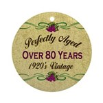 Over 80 Years Ornament (Round)