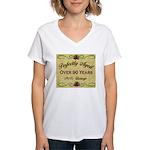 Over 90 Years Women's V-Neck T-Shirt