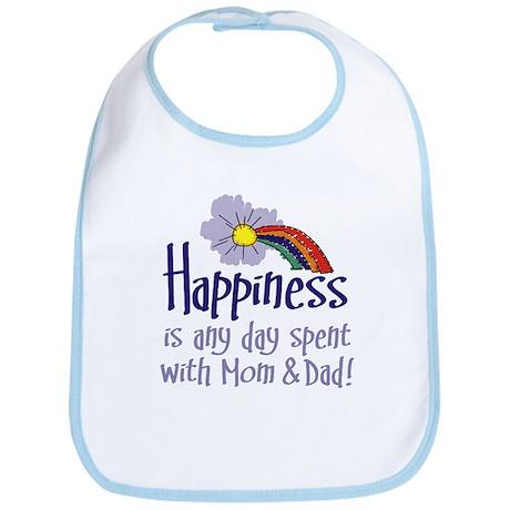 HAPPINESS IS DAY W/ MOM & DAD Bib