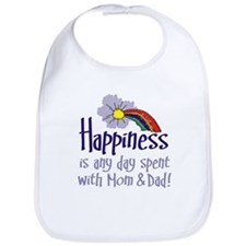 HAPPINESS IS DAY W/ MOM & DAD Bib