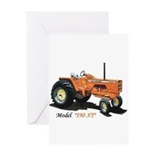 Antique Tractors Greeting Card