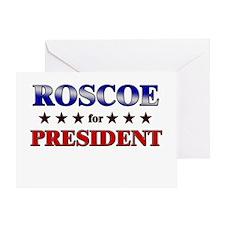 ROSCOE for president Greeting Card