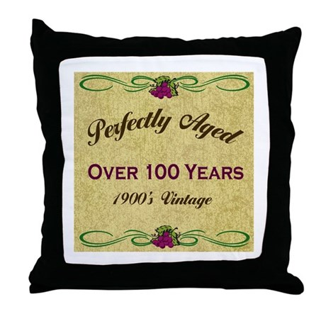 Over 100 Years Throw Pillow
