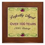 Over 100 Years Framed Tile