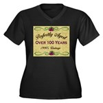Over 100 Years Women's Plus Size V-Neck Dark T-Shi