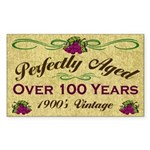 Over 100 Years Rectangle Sticker