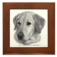 Sam, Labrador Retriever Framed Tile