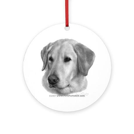 Sam, Labrador Retriever Ornament (Round)