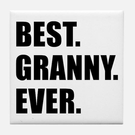 Best Granny Ever Drinkware Tile Coaster