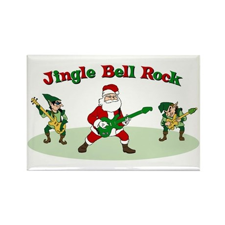 Jingle Bell Rock Rectangle Magnet (10 pack)