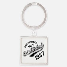 Guaranteed 100% Established 1957 Square Keychain