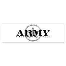 Army - I Support My Uncle Bumper Bumper Sticker