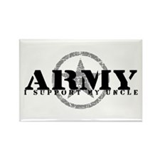 Army - I Support My Uncle Rectangle Magnet