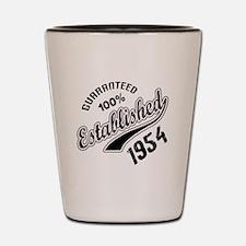 Guaranteed 100% Established 1954 Shot Glass