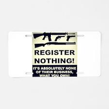 GUN FREEDOM Aluminum License Plate
